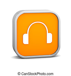 Orange Headphone Sign