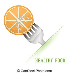 orange healthy food diet vector illustration eps 10