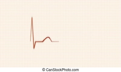 Orange HeartBeat Cardiogram.