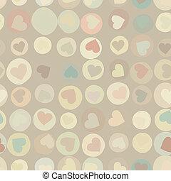 Orange hearts background on beidge. EPS 8