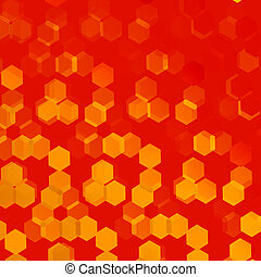 Orange Hexagonal Background