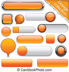 orange, high-detailed, buttons., moderne