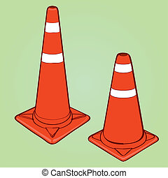 orange highway traffic cones