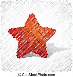 orange, hingekritzelt, five-star.