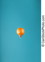 orange, hintergrund., zwiebel, licht, form, blaues, levitation