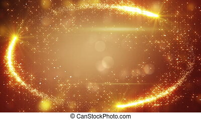 orange holiday frame of fairy dust loop background