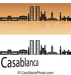 orange, horizon, casablanca