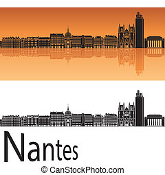 orange, horizon, fond, nantes
