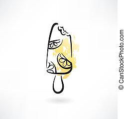orange ice-cream icon