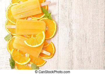 orange ice cream popsicle