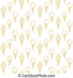 Orange ice cream vector seamless pattern. Summer collection....