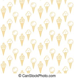 Orange ice cream vector seamless pattern. Summer collection....