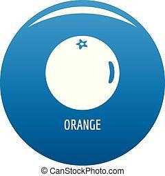 Orange icon blue vector