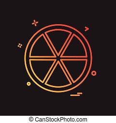 Orange icon design vector