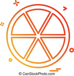 Orange icon design vector