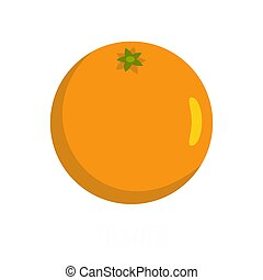 Orange icon, flat style