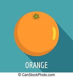Orange icon, flat style