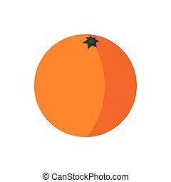 Orange icon in flat style
