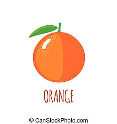 Orange icon in flat style on white background