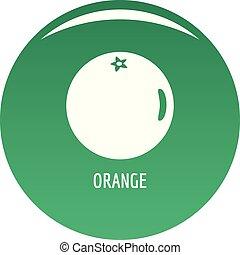 Orange icon vector green