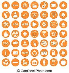 Orange icons set