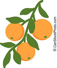 Orange illustration vector on white background