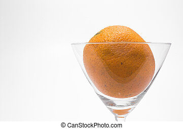 Orange in a Martini Glass - A fresh orange in a martini...