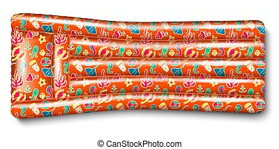 orange inflatable mattress - Inflatable rubber mattress...