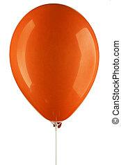 orange inflated air balloon