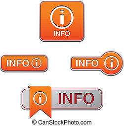 orange info button