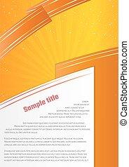 orange infographic paper on yellow background