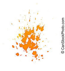 Orange ink splashes