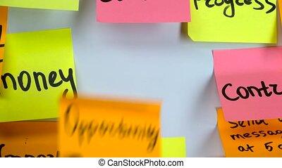 orange, inscription, autocollant, occasion, écrit