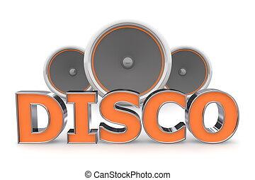 orange, interlocuteurs, -, disco