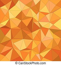 Orange irregular triangle mosaic background
