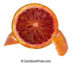 orange isolated on white background close up