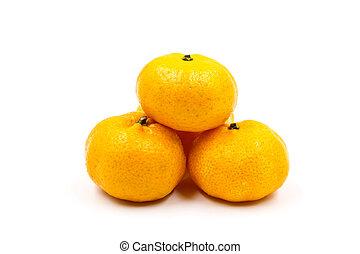 Orange isolated on white background.