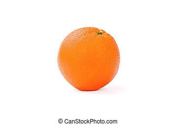 Orange. Isolated on White Background.