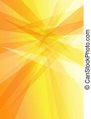 orange, jaune, résumé, fond