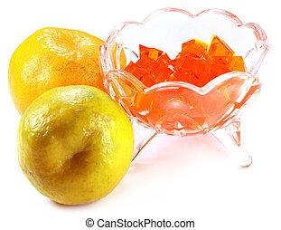 Orange Jelly with fresh oranges