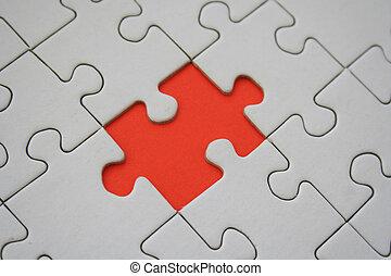 Orange jigsaw