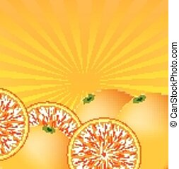 Orange juice background vector illustration.
