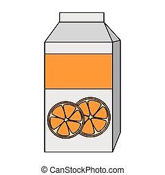 orange juice box packing