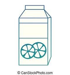 orange juice box packing vector illustration design