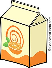 orange juice box - design of orange juice box
