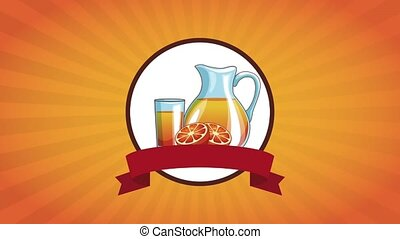 Orange juice cartoons HD animation - Delicious orange juice...