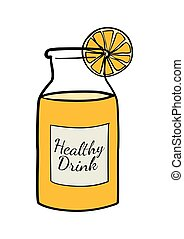 Orange Juice - Doodle of a bottle of orange juice
