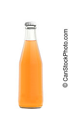 Orange juice drink in glass bottle