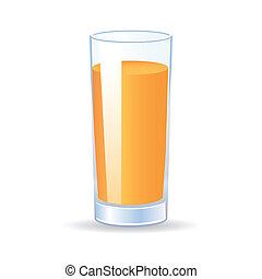 orange juice - abstract orange juice with shadow effect on...