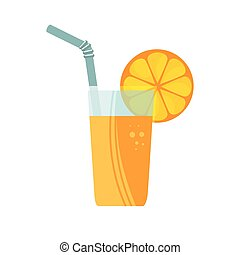 orange juice fruit icon vector illustration design